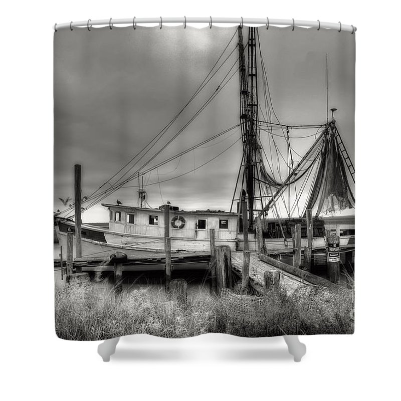 Shrimp Boat Shower Curtain featuring the photograph Lowcountry Shrimp Boat by Scott Hansen