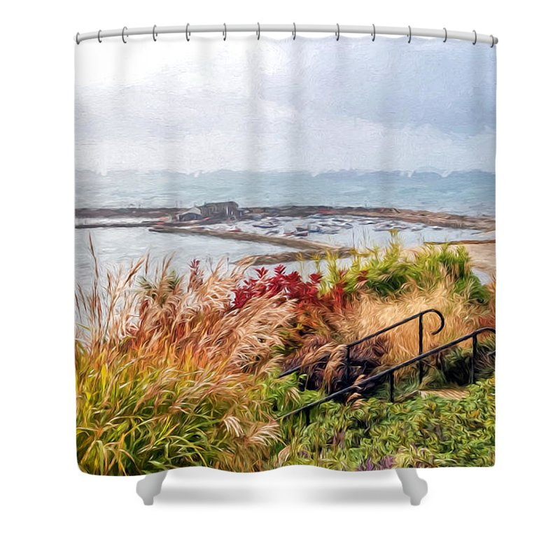 Lyme-regis Shower Curtain featuring the photograph Lyme Regis Impressions by Susie Peek