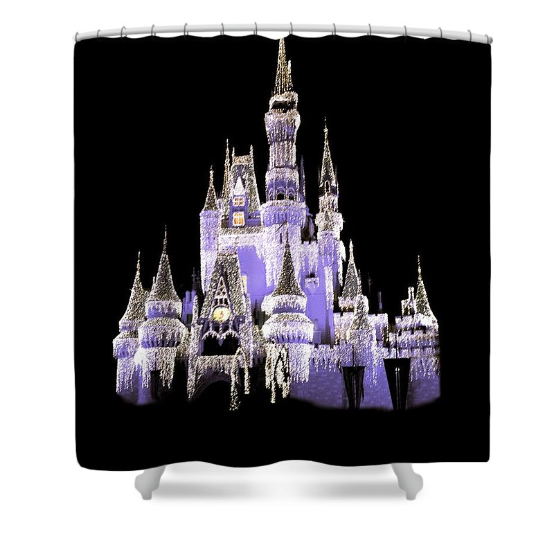 Disney Shower Curtain featuring the photograph Magic Kingdom by Art Spectrum