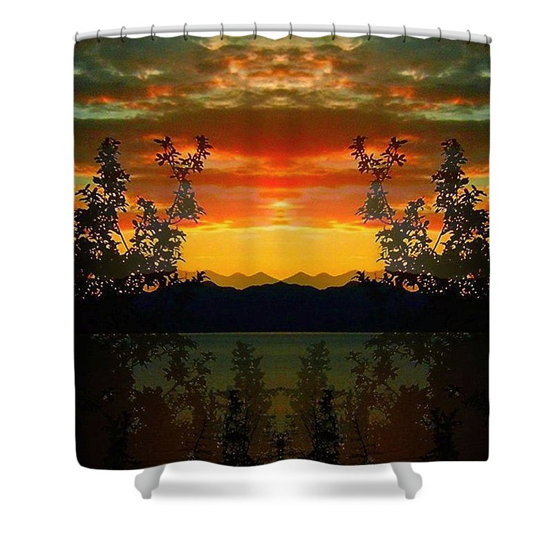 North America Shower Curtain featuring the photograph Marsh Lake - Yukon by Juergen Weiss