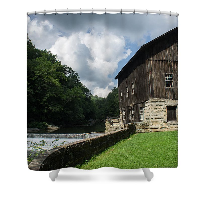 Barn Shower Curtain featuring the photograph Mcconnells Mills by Diana Weir