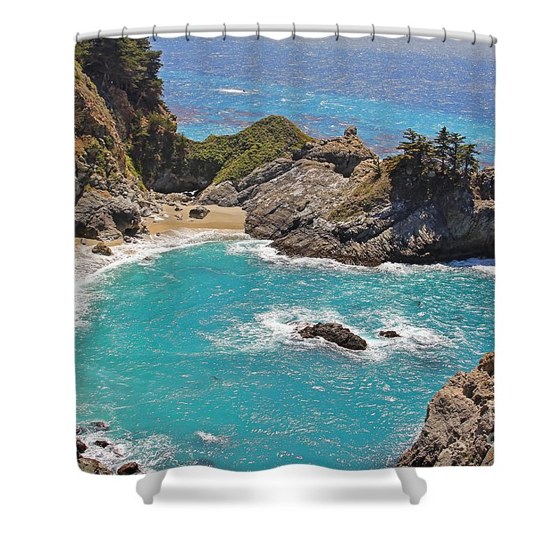 Mcway Falls Shower Curtain featuring the photograph Mcway Falls by Jack Schultz
