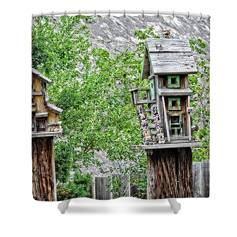 Bird House Shower Curtain featuring the photograph Melba Idaho by Image Takers Photography LLC