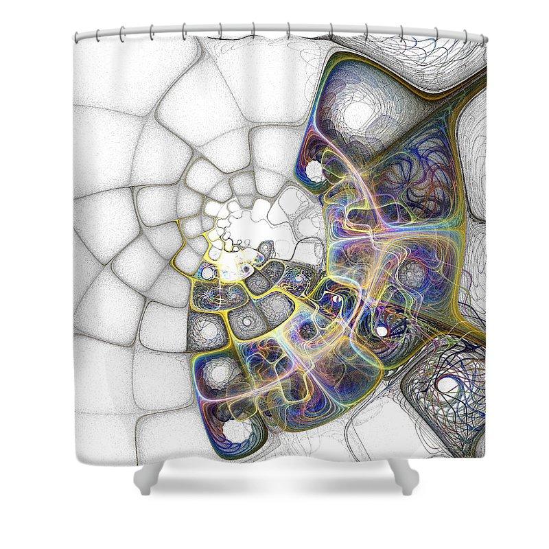 Digital Art Shower Curtain featuring the digital art Memories by Amanda Moore