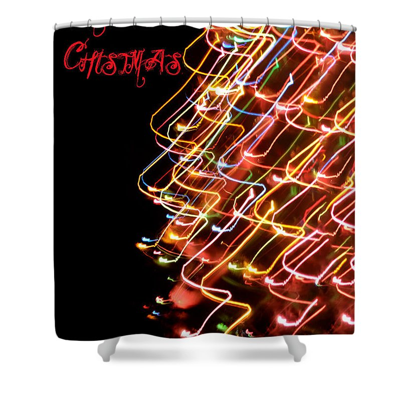 Merry Christmas Shower Curtain featuring the photograph Merry Christmas by Bill Cannon
