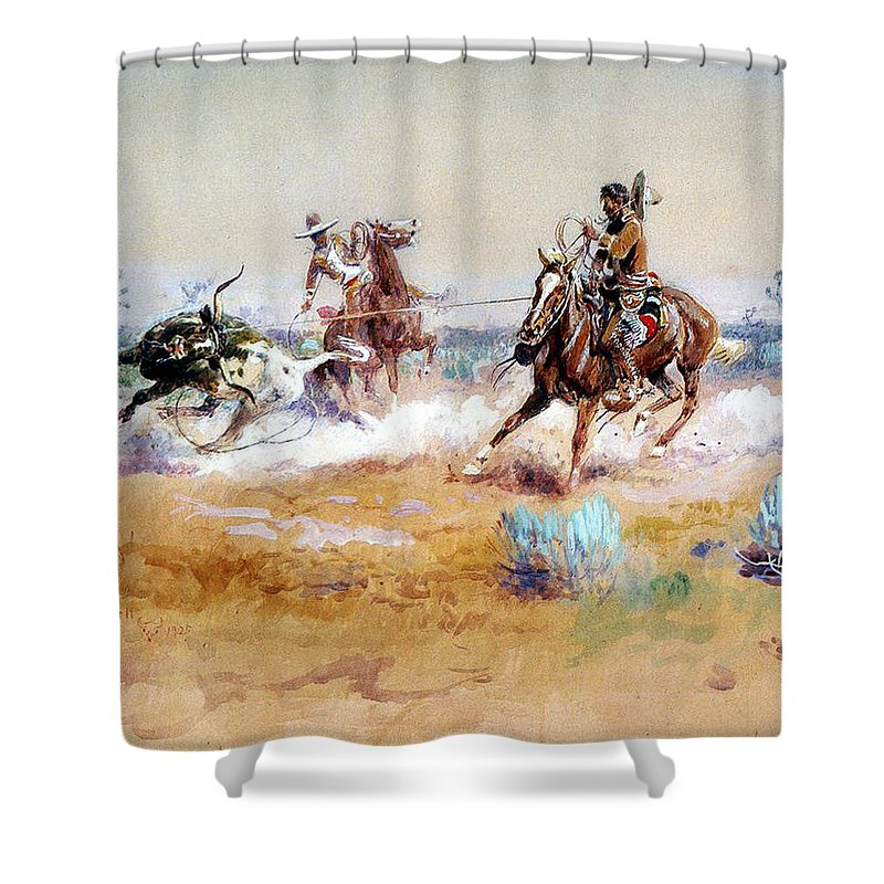 Mexico Shower Curtain featuring the digital art Mexico by Charles Russell