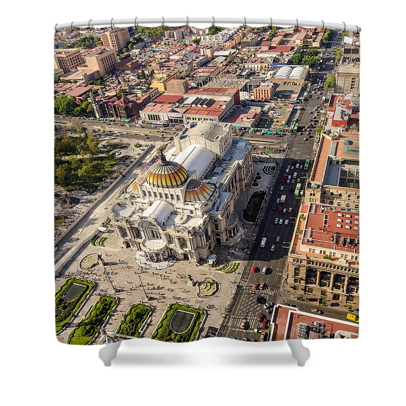 Mexico Shower Curtain featuring the photograph Mexico City Aerial View by Jess Kraft