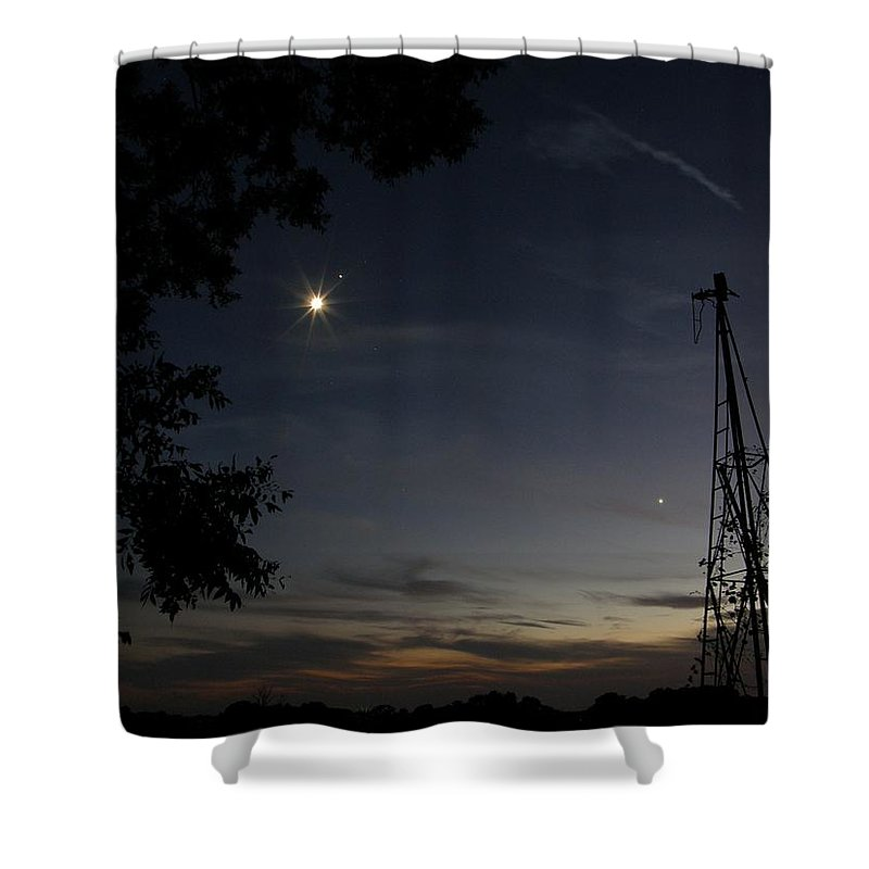Moon Shower Curtain featuring the photograph Moon And Stars In My Eyes by Shannon Story