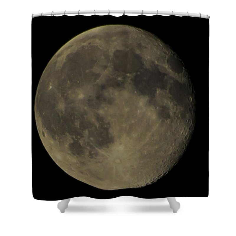 Night Shower Curtain featuring the photograph Moon by Theodore Jones