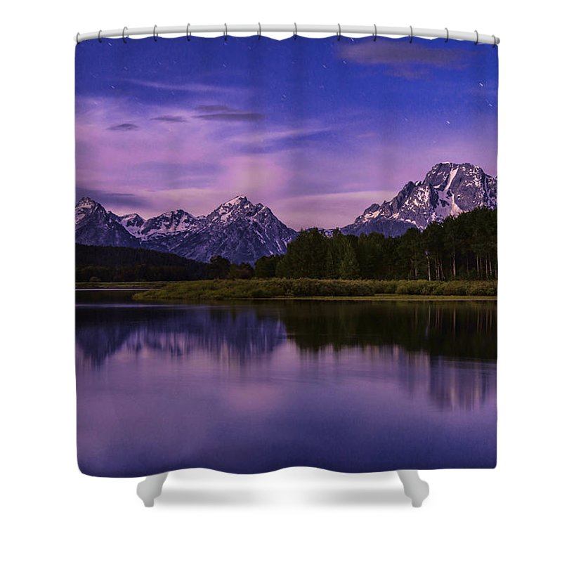 Moonlight Bend Shower Curtain featuring the photograph Moonlight Bend by Chad Dutson