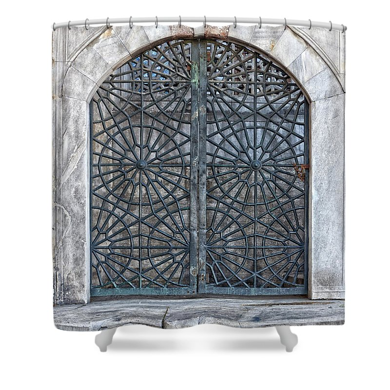Mosque Shower Curtain featuring the photograph Mosque Window by Antony McAulay