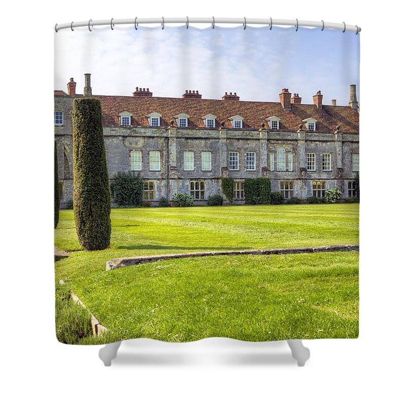 Mottisfont Abbey Shower Curtain featuring the photograph Mottisfont Abbey by Joana Kruse