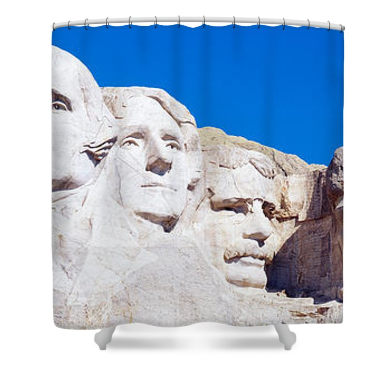Photography Shower Curtain featuring the photograph Mount Rushmore, South Dakota, Usa by Panoramic Images