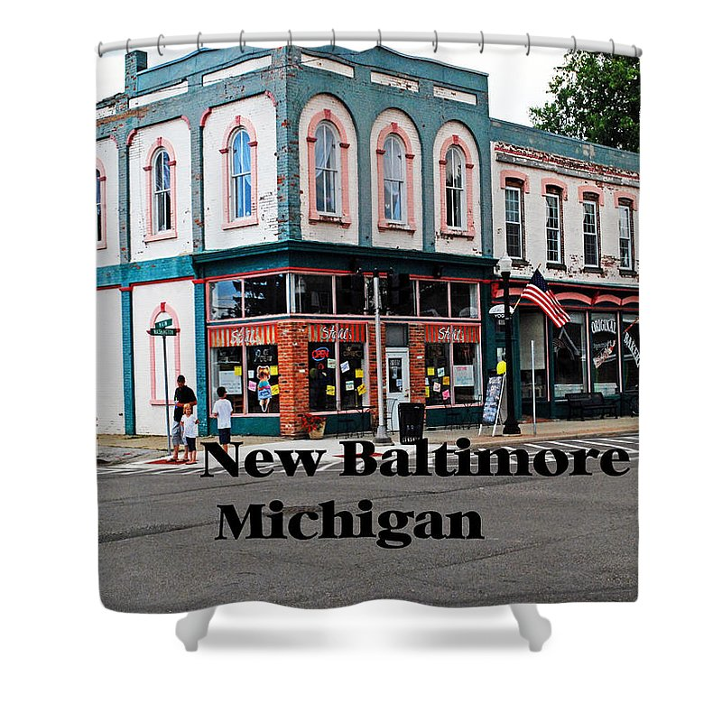 Michigan Shower Curtain featuring the photograph New Baltimore Michigan by Gary Wonning