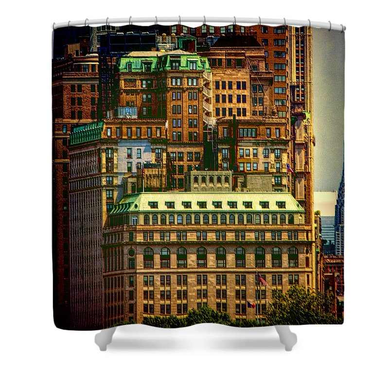 New York City Shower Curtain featuring the photograph Nyc by Claude LeTien