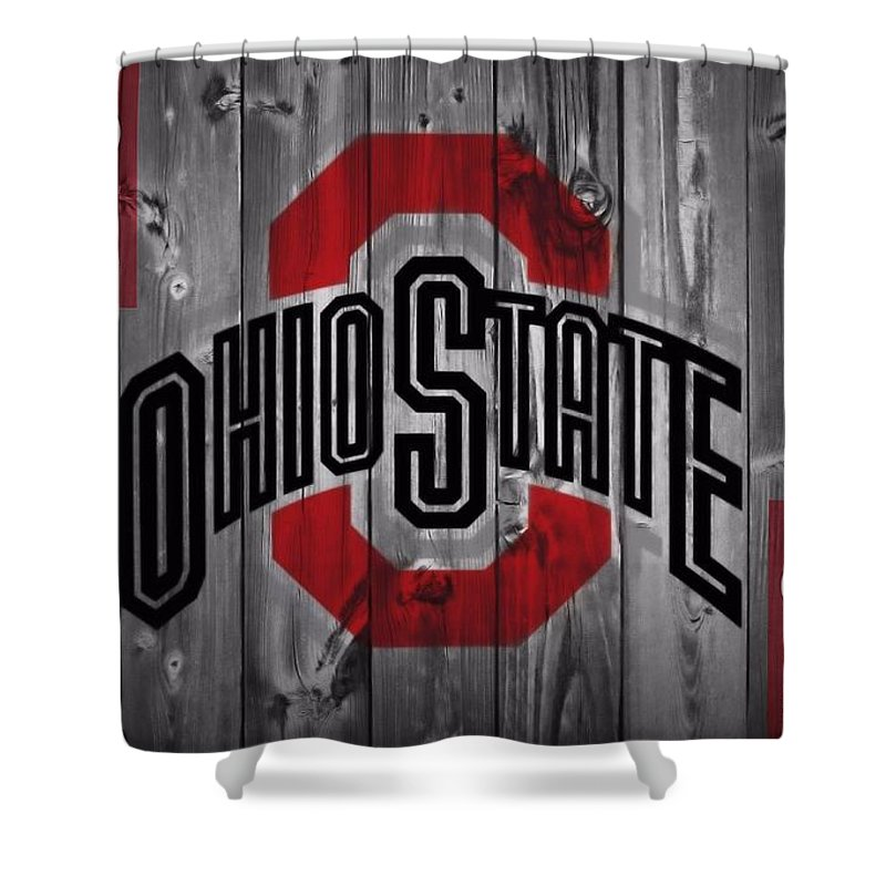 Ohio State University Shower Curtain Featuring The Photograph Buckeyes By Dan Sproul