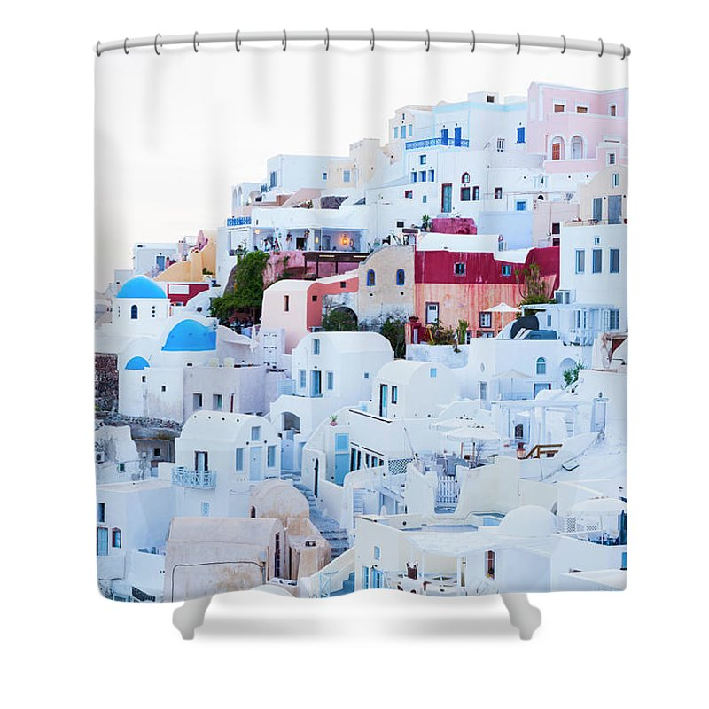 Tranquility Shower Curtain featuring the photograph Oia by Jorg Greuel
