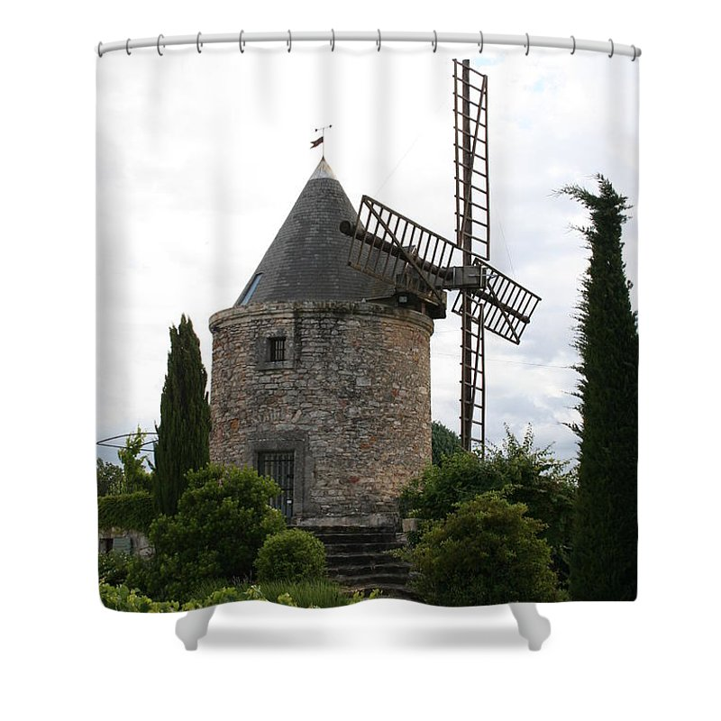Mill Shower Curtain featuring the photograph Old Provencal Windmill by Christiane Schulze Art And Photography