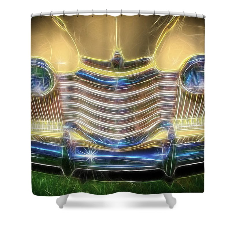Hotrod Shower Curtain featuring the photograph Oldsmobile by Steve McKinzie