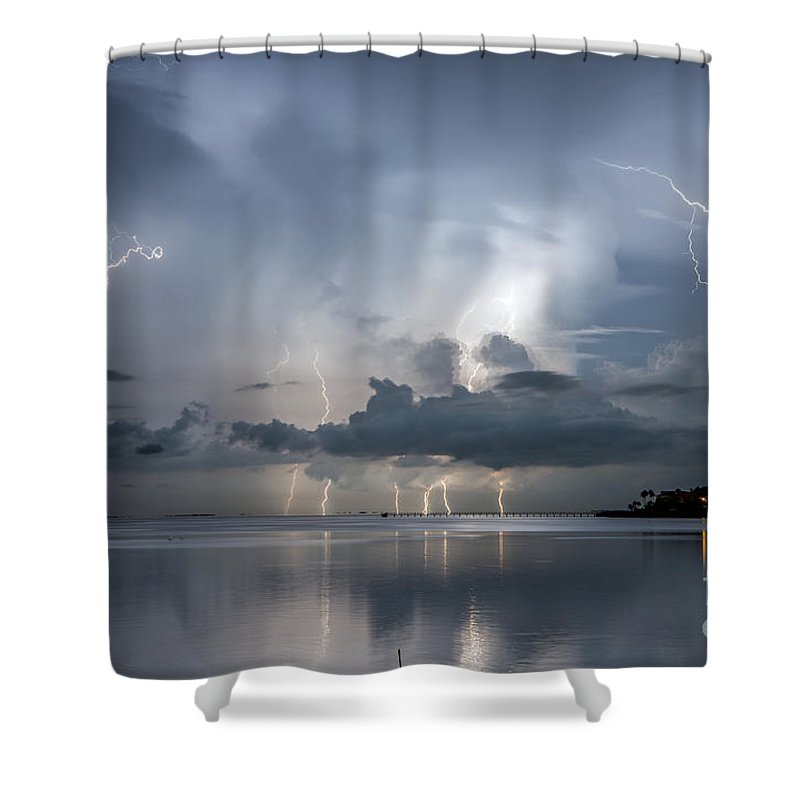 Ozona Shower Curtain featuring the photograph Ominous Ozona by Stephen Whalen