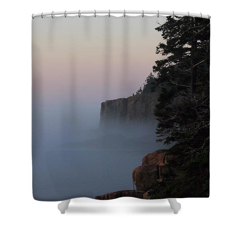 Otter Cliffs Shower Curtain featuring the photograph Otter Cliffs 2 by Jeff Heimlich