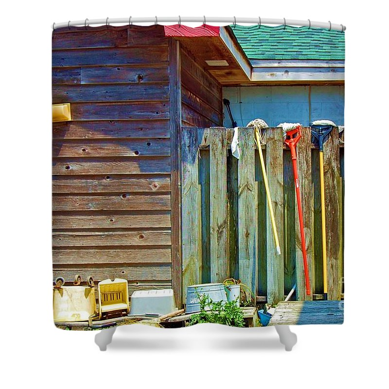 Building Shower Curtain featuring the photograph Out To Dry by Debbi Granruth
