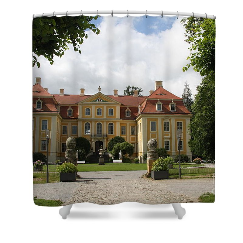 Palace Shower Curtain featuring the photograph Palace Rammenau - Germany by Christiane Schulze Art And Photography