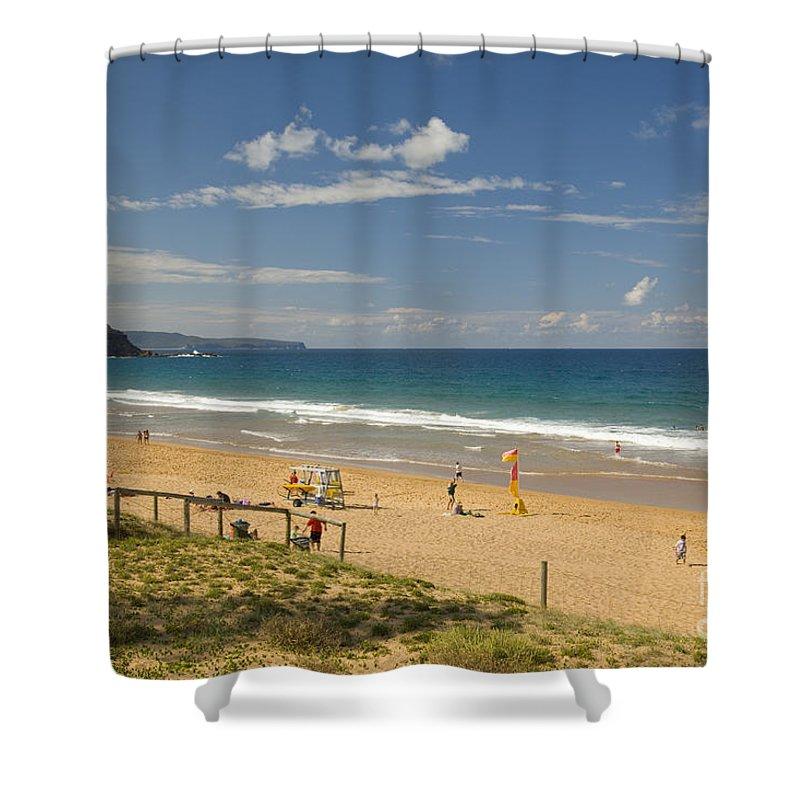 Palm Beach Shower Curtain featuring the photograph Palm Beach Sydney by Martin Berry