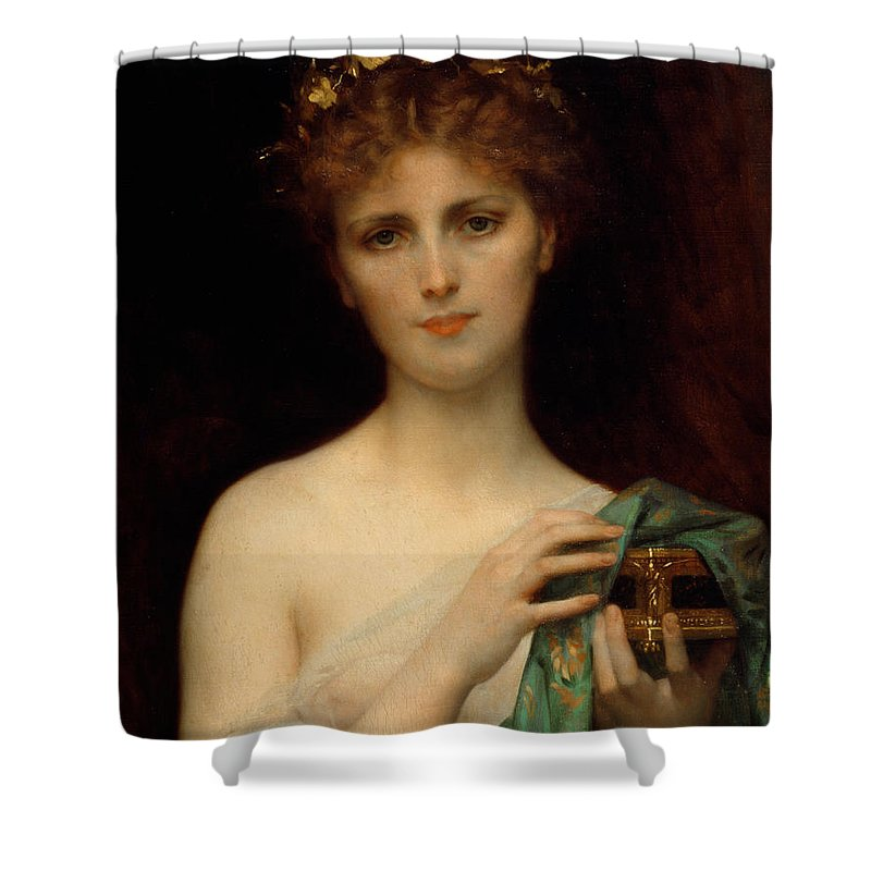 c768050c2c14 Pandora Shower Curtain featuring the painting Pandora by Alexandre Cabanel