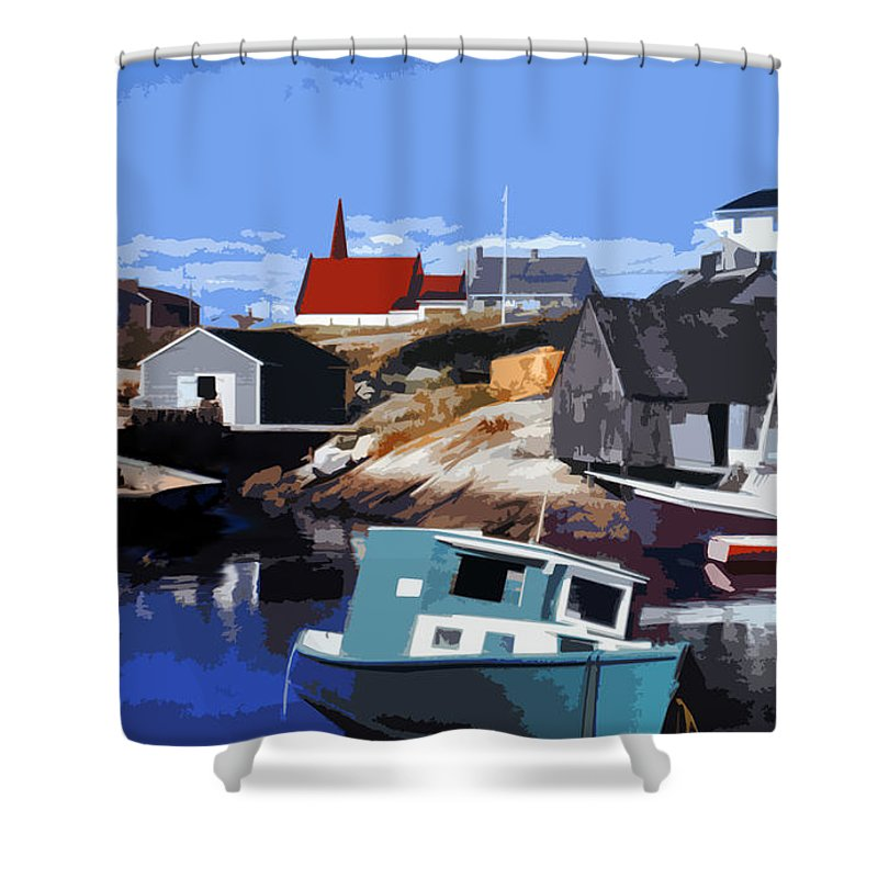 Peggy's Cove Shower Curtain featuring the photograph Peggy's Cove by Lydia Holly