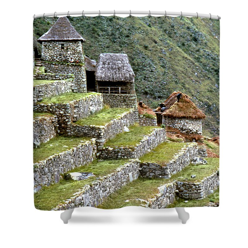 15th Century Shower Curtain featuring the photograph Peru: Machu Picchu by Granger