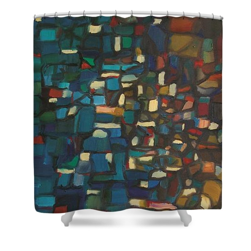 Regina Gallant Shower Curtain featuring the painting Phuket by Regina Marie Gallant