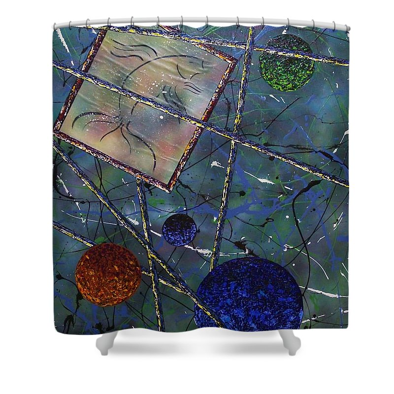 Fish Shower Curtain featuring the painting Pisces by Micah Guenther