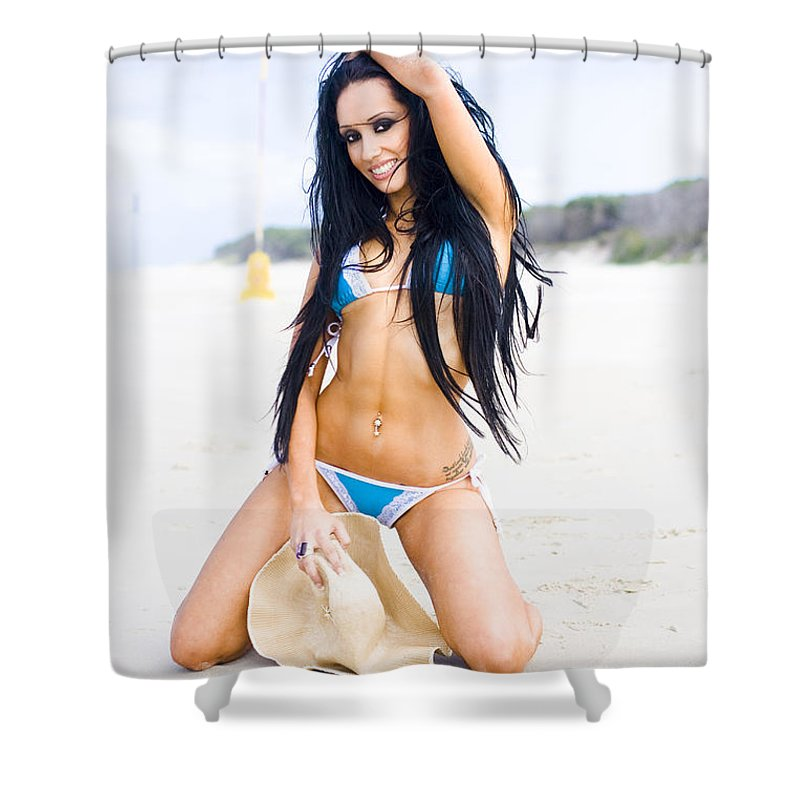 Attractive Shower Curtain featuring the photograph Playing On The Beach by Jorgo Photography - Wall Art Gallery
