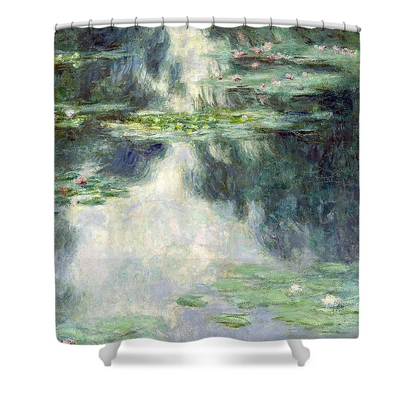 Giverny Shower Curtain featuring the painting Pond With Water Lilies by Claude Monet