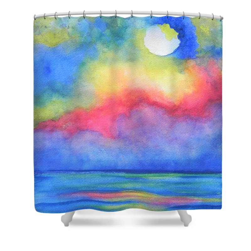 Fine Art Painting Shower Curtain featuring the painting Power Of Nature by Chrisann Ellis
