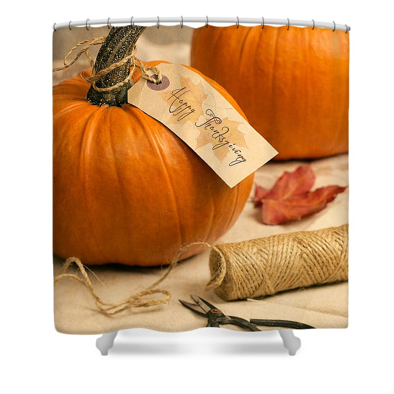 Pumpkin Shower Curtain featuring the photograph Pumpkins For Thanksgiving by Amanda Elwell