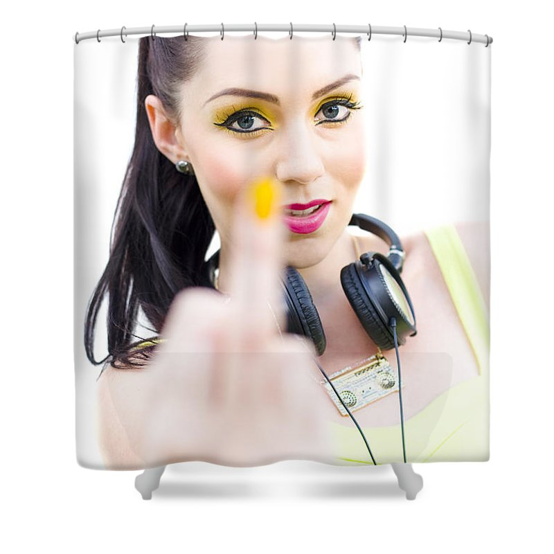 Attractive Shower Curtain Featuring The Photograph Punk Rock Girl By Jorgo Photography