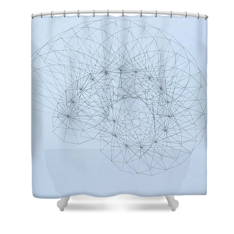Jason Padgett Shower Curtain featuring the drawing Quantum Nautilus by Jason Padgett