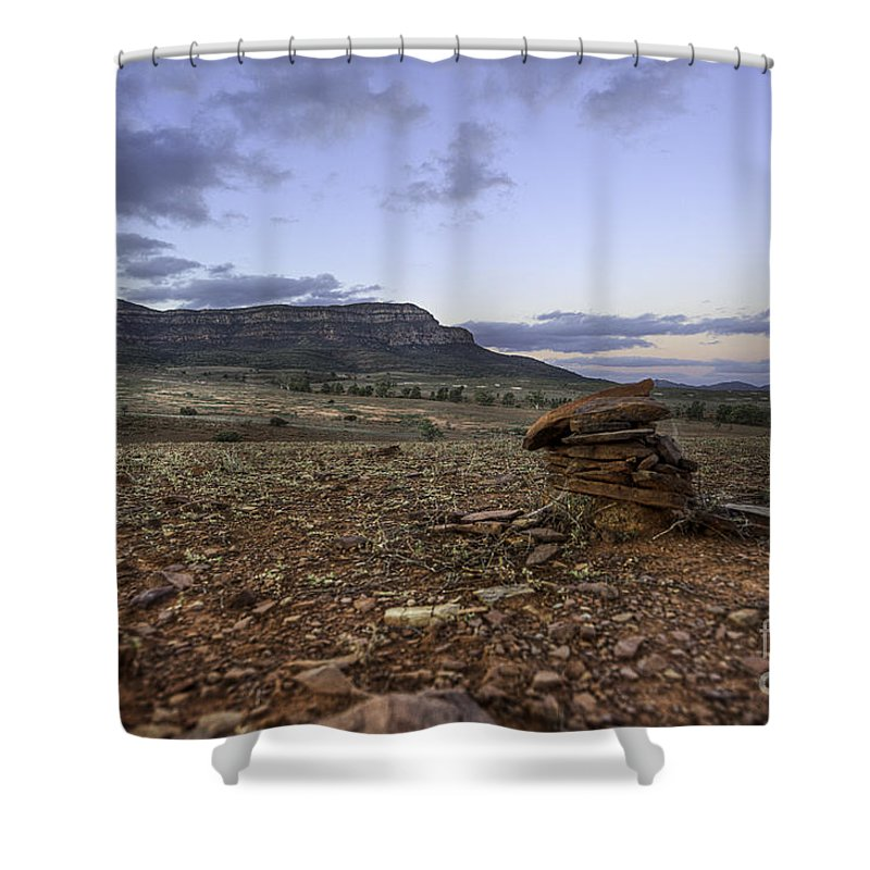 Outback Shower Curtain featuring the photograph Rawnsley Bluff by Ray Warren