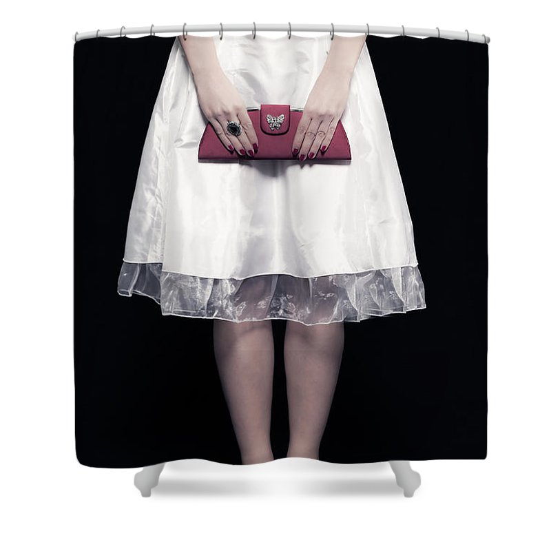 Woman Shower Curtain featuring the photograph Red Handbag by Joana Kruse