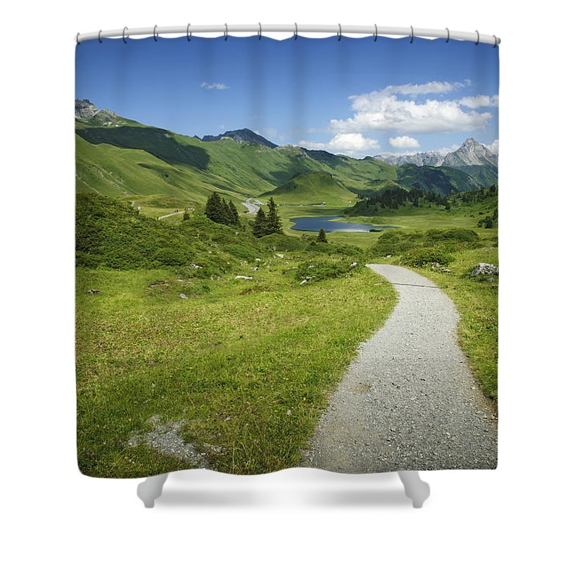 Road Shower Curtain featuring the photograph Road In The Mountains by Chevy Fleet