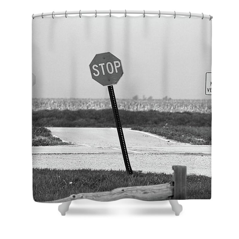 66 Shower Curtain featuring the photograph Route 66 by Frank Romeo