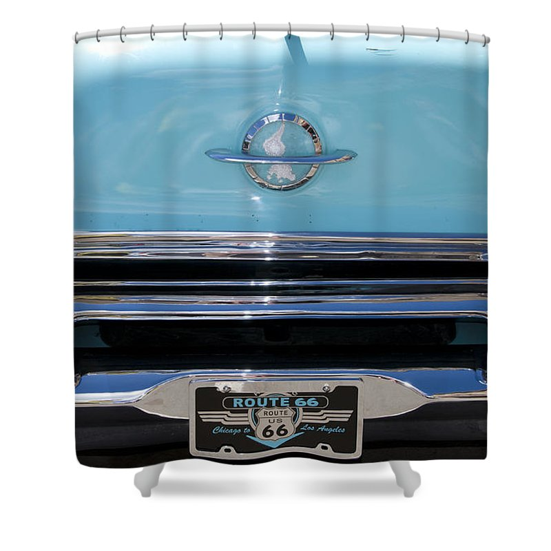 Car Shower Curtain featuring the photograph Route 66 by Milena Boeva