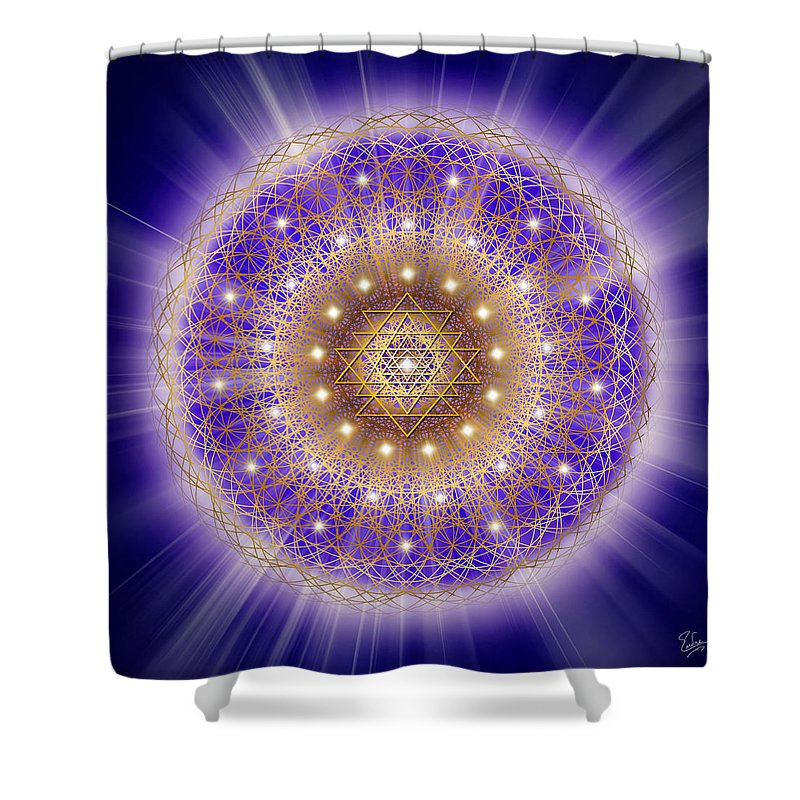 Endre Shower Curtain Featuring The Digital Art Sacred Geometry 197 By Balogh