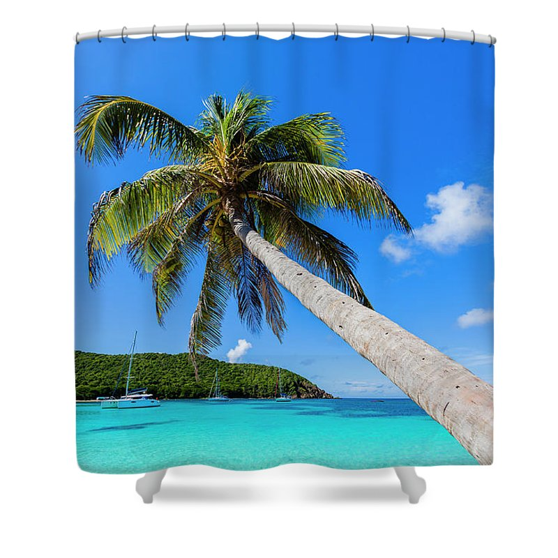 Water's Edge Shower Curtain featuring the photograph Salt Whistle Bay, Mayreau by Argalis