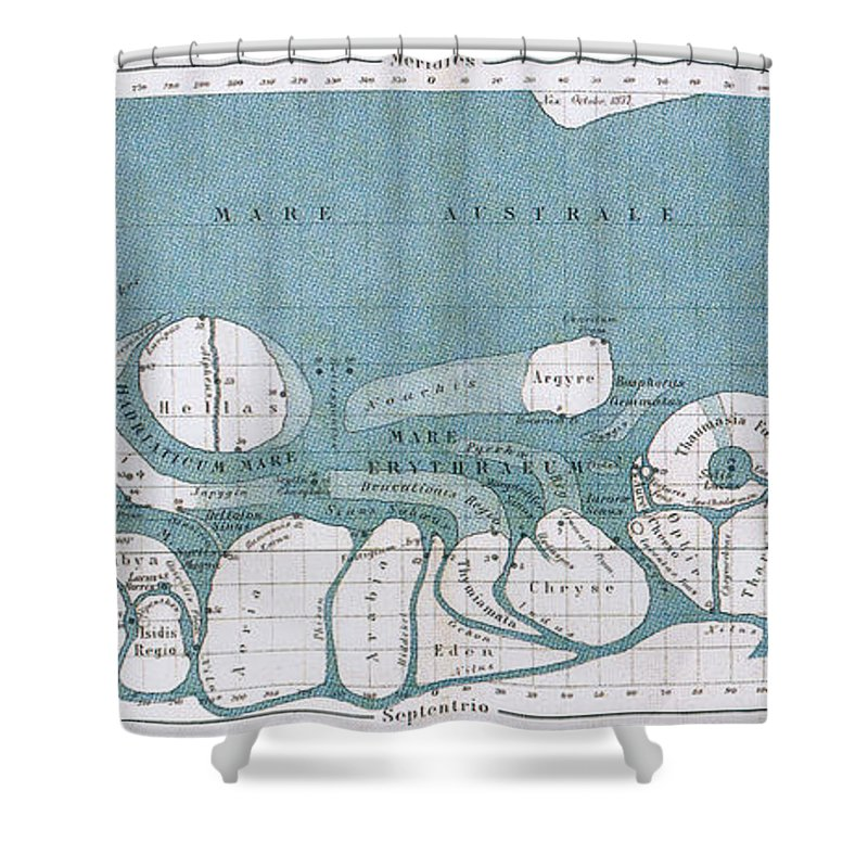 Science Shower Curtain Featuring The Photograph Schiaparelli Mars Map 1877 78 By Source