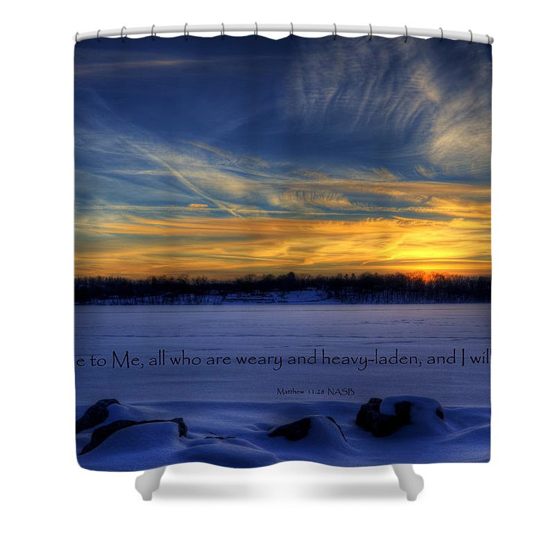 Scripture Shower Curtain featuring the photograph Scripture Photo by David Dufresne