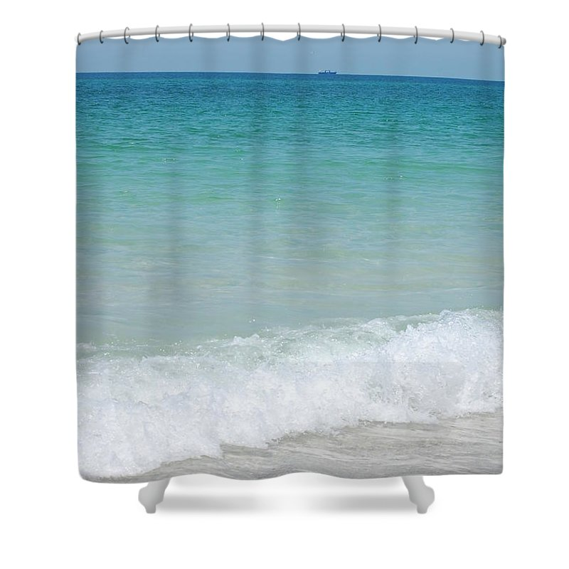 Water Shower Curtain featuring the photograph Sea Of Blue by May Photography