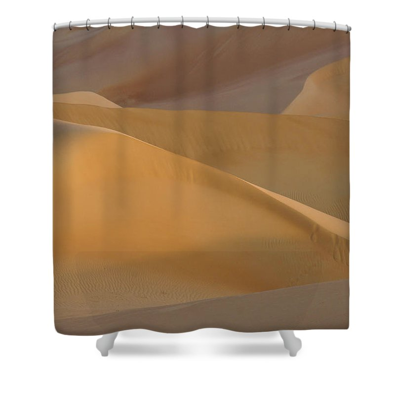 Abu Dhabi Shower Curtain featuring the photograph Sensuous Curves by Michele Burgess